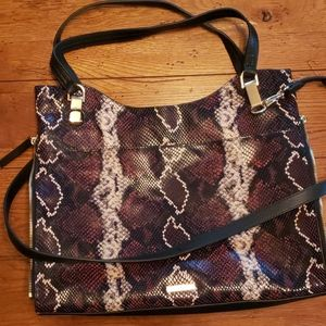 VINCE CAMUTO FAUX SNAKESKIN LEATHER TOTE